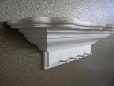 25 inch White Shabby Chic Wall Shelf by craftsbymerle on Etsy, $35.00