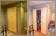 Diy dorm room crafts : DIY Closets with sliding barn-style doors