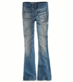 Love at first sight. Totally me. Faded and vintagey.   Hi-Rise Artist Jean American Eagle $40
