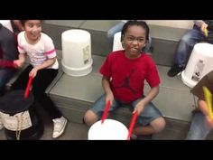 Kids junk orchestra bucket drumming 101