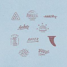 Set of sketches for surf company Part 2 logo logotype identity anton gorbunov askmetolie lettering art Design Set, Cl Design, Surf Design, Typography Logo, Graphic Design Typography, Logo Branding, Lettering Art, Corporate Branding, Logo Inspiration