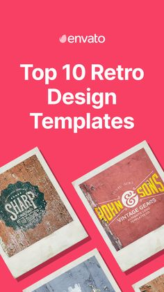 From polaroid and neon effects to vintage logo design, find the best retro design templates inspired by the 1960s, 1970s, and 1980s.