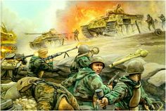 Las Cosicas del Panzer — hanspanzer: River of Heroes Military Diorama, Military Art, Military History, Army Drawing, Ww2 Propaganda Posters, Military Drawings, Ww2 Pictures, Army Soldier, Red Army