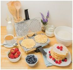 Classic Vanilla Pizzelle Recipe-A straightforward Pizzelle recipe for the old classic Italian cookie. Gently sweetened and flavored with vanilla or anise, they happen to be ideal for. Pizzelle Maker, Pizzelle Cookies, Waffle Maker Reviews, Best Waffle Maker, Belgian Waffle Maker, Belgian Waffles, Pizelle Recipe, Heart Shaped Waffle Maker