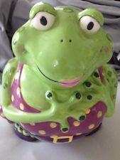 Mrs Frog Cookie Jar By Ganz
