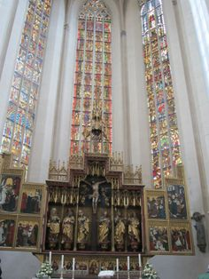 High Altar at St. Jackobskirche (St. Jakob's Church) - Rothenburg ob der Tauber, Germany