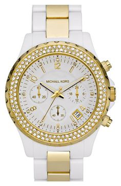 'Madison' Resin & Crystal Watch, Michael Kors