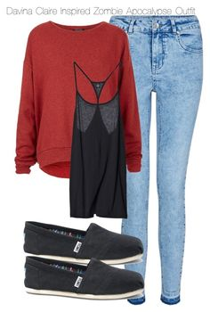 """Davina Claire Inspired Zombie Apocalypse Outfit"" by staystronng ❤ liked on Polyvore"