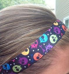 """One Up """"Black Zombies"""" Headband Non Slip"""