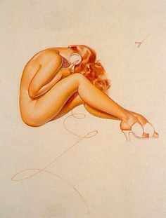 Another Great artist of pin-up, George Petty.