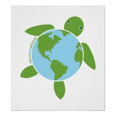 Earth Day Honu Poster... this could be turned into a great kids craft. The center could be, a paper plate Earth the kiddos can color stapled on top of note paper with an Earth day pledge that is stapled to another plate. Then green construction paper for the turtle head and flippers that's attached around the edges of the bottom plate. :)
