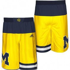 Adidas University of Michigan Basketball Made in March Yellow Replica Shorts University Of Michigan Basketball, Baylor Basketball, Michigan Athletics, Basketball Goals, Adidas Basketball Shoes, Michigan Wolverines, Basketball Equipment, Sports Equipment, Basketball Compression Pants