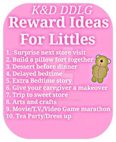 Reward Ideas for DDLG, DDLB, MDLB, MDLG,or CGL Relationship. DDLG relationship ideas..