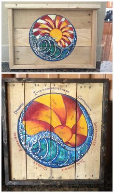#Canvas, #HomeDécor, #Painted, #PalletFrame, #RecyclingWoodPallets