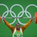 Dalung felicitates with Mariam Usman on Olympic Bronze medal