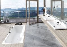 Kaldewei offers bath, shower and whirlpool tub in the avantgarde versions, ambience and advantage. Italia Design, Relax, Whirlpool Tub, Cool Rooms, Green Building, Countertops, Modern Design, Shower, Bathroom