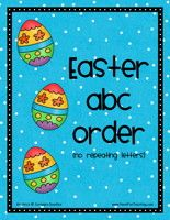 In these Easter-themed freebies, kids sort three groups of words into alphabetical order.