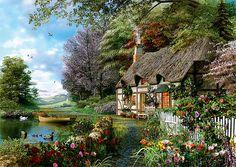 Trefl Puzzle 1000 Teile Ein gemütliches Eckchen (10297) Garten Haus in Spielzeug, Puzzles & Geduldspiele, Puzzles | eBay #Puzzle #Paintings