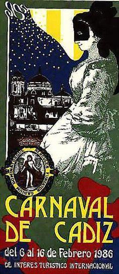 Cartel Carnaval de Cadiz año 1986