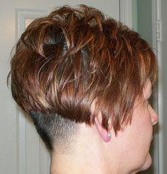 Graduated Bob Haircuts, Shaved Nape, Perm, Great Hair, Bob Hairstyles, Short Hair Styles, Hair Cuts, Hairstyle Ideas, Bobs