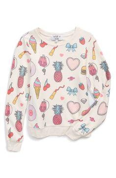 Girl's Wildfox Graphic Print Sweater
