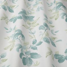ILIV Floral Pavilion Kew Printed Aqua Curtain Fabric, Curtains, Pavilion, Blue Green, Aqua, Floral, Prints, Pattern, Inspiration