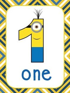 MINION THEMED NUMBER POSTERS **0-20** - TeachersPayTeachers.com