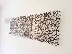 Decorative Metal Wall Art metal wall art decor 3d sculpture 3 piece tree brunch modern