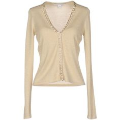 Diane Von Furstenberg Cardigan ($330) ❤ liked on Polyvore featuring tops, cardigans, beige, long sleeve v neck top, diane von furstenberg, beige cardigan, lightweight cardigan and beaded cardigan