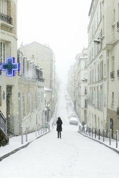 Montmartre in Winter, Paris