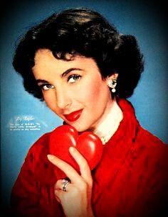Elizabeth Taylor, my Favorite Valentine! Vintage Hollywood, Hollywood Glamour, Hollywood Stars, Classic Hollywood, Hollywood Actresses, Elizabeth Taylor, We Heart It, Vintage Valentine Cards, Valentine Pics