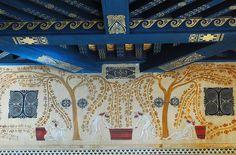 Villa Kerylos, Triklinos  wall and ceiling design, France