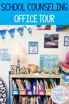 Find out how to organize and decorate your school counseling office! School Counselor Office, Counseling Office Decor, School Guidance Counselor, Elementary School Counselor, School Counseling, School Office, Organize, Curriculum, Homeschool