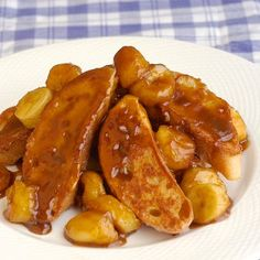 Bananas Foster French Toast ideal for Mothers Day or Easter. - Rock Recipes