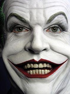 Jack Nicholson as The Joker Joker Und Harley Quinn, Batman Vs Superman, Batman Comics, Joker Kunst, Joker Makeup, Sfx Makeup, Arte Steampunk, Joker Halloween, Heath Ledger Joker