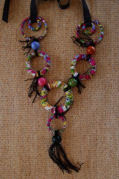 fabric+necklace | Fabric Rings Necklace
