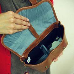 Leather Alternative Vintage Style Camera Bag