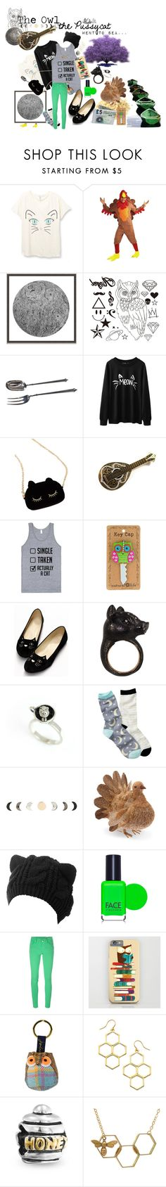 """The Owl & the Pussycat"" by acrazyperson on Polyvore featuring mode, Wendover Art Group, WithChic, Pussycat, Nisan, Bug, Free Press, FACE Stockholm, M Missoni et Joules"