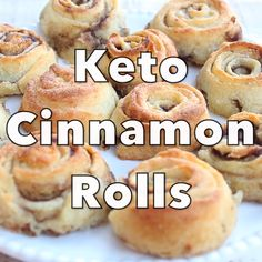 A delicious tea-time treat, these rolls are made with the famous fat head dough. They are sugar free, grain free, gluten free and only net carbs per roll. Keto Desserts, Keto Snacks, Holiday Desserts, Keto Sweet Snacks, Stevia Desserts, Dessert Recipes, Holiday Recipes, Dinner Recipes, Low Carb Bread