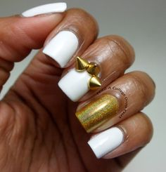 nailacollegedropout:  Bad bytch wedding nails