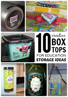 These 10 Creative Box Tops Storage Ideas at B-Inspired Mama are sure to make giving back to your school a breeze! #ad