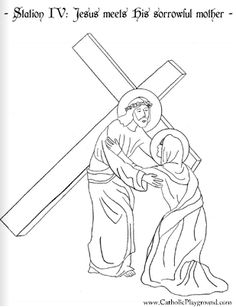 Stations Of The Cross Coloring Pages Inspiration Stations Of The Cross Catholic Coloring Sheetsall Fourteen Pages Design Inspiration