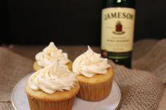 Jamison Cupcakes Whiskey Cupcakes, Whiskey Cake, Irish Whiskey, Cupcake Recipes, Cupcake Cakes, Homemade Whiskey, Irish Recipes, Vanilla Cupcakes, Sweet Treats