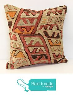 Throw kilim pillow cover 16x16 inch (40x40 cm) Decorative Boho kilim pillow cover Home Decor Natural Pillow cover Garden decor Kilim Cushion Cover from Kilimwarehouse https://www.amazon.com/dp/B06XRZMBB2/ref=hnd_sw_r_pi_dp_sFO0ybVRJZEHE #handmadeatamazon