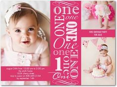 Gorgeous 1st Birthday Invitations