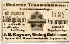 Original-Werbung/ Anzeige 1912 - TRANSMISSIONSLAGER / KAYSER NÜRNBERG- GLAISHAMMER -ca. 100 x 60 mm