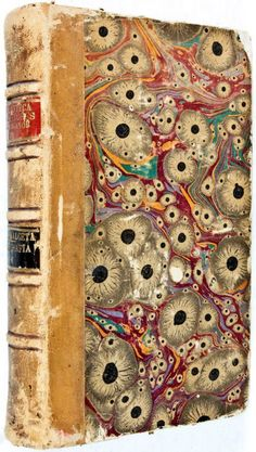 beautiful antique book with marbling