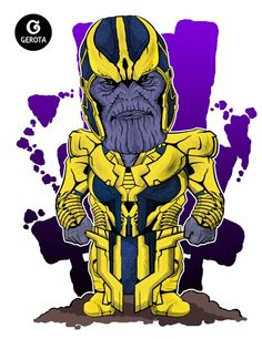 Thanos - Chibi Art by Gregory Indrakusuma (Gerota)
