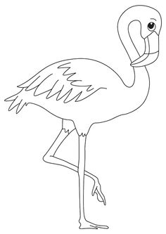 flamingo colouring pages free print. When you mention the name flamingo, everyone will know that this is a bird with an S-shaped neck and has a graceful style that is popular and beautifu. Minion Coloring Pages, Free Kids Coloring Pages, Coloring Pages To Print, Printable Coloring Pages, Coloring Pages For Kids, Coloring Books, Colouring, How To Draw Flamingo, Flamingo Craft