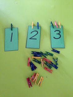 number quantity match  Kinder Maths Freebies